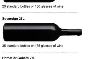 Sovereign Wine Bottle Size