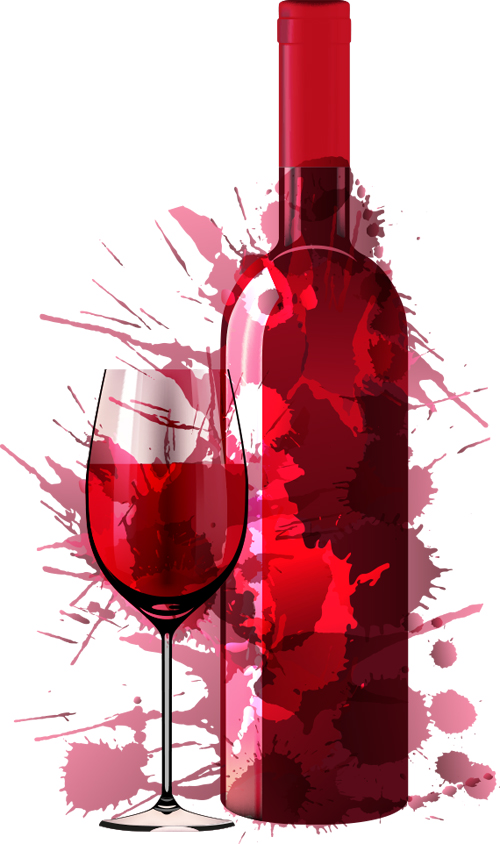 Red Wine Bottle Glass art