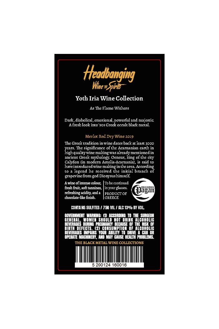 Yoth Iria Wine Merlot 2019 Back Label